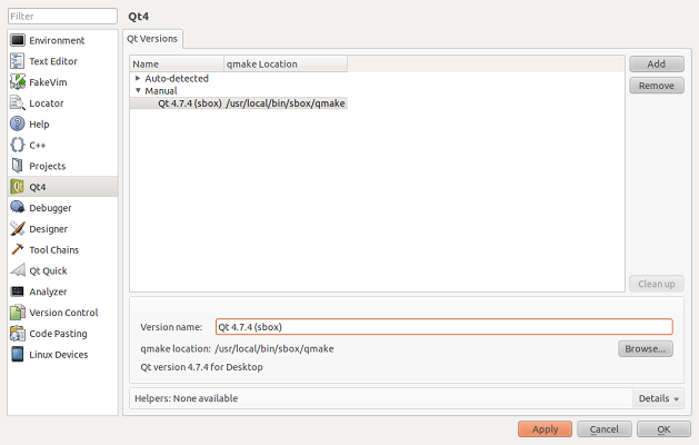 Integrating Qt Creator with Scratchbox in Linux environment
